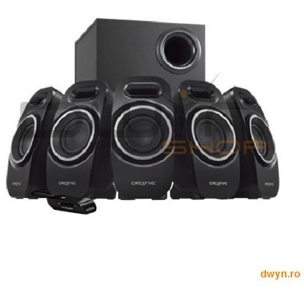Creative Boxe Creative 5.1 inspire A550 Black  Rms: Subwoofer 12w  5 Channels 5w