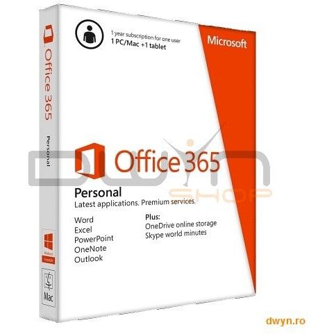 Microsoft Office 365 Personal 32-bit/x64 En 1y 1pc