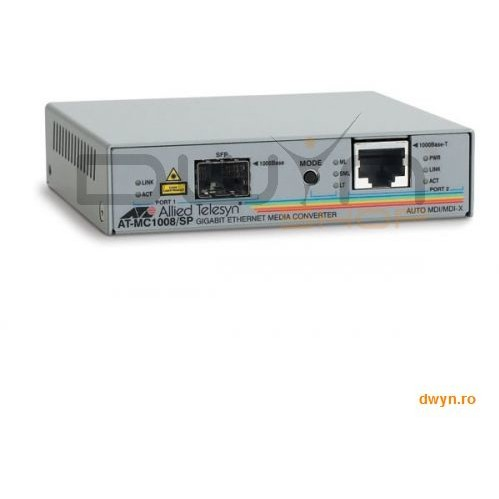 Allied Telesis Allied Telesis Media Converter Series  1000t To Sfp Media Converter (at-mc1008/sp-60)