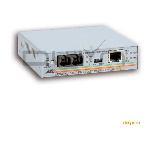 Allied Telesis Allied Telesis At-mc102xl  Media Converter 100tx (rj-45) To 100fx (sc) Fast Ethernet