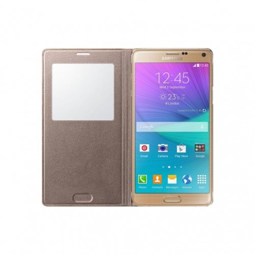 Samsung Galaxy Note 4 S-view Cover Golden Camel Ef