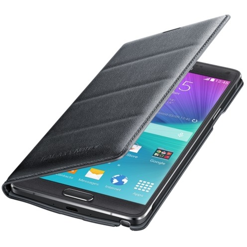 Samsung Galaxy Note 4 Flip Wallet Charcoal Black E