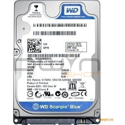 Western Digital Hdd Notebook 2.5 1tb 5400rpm 8m Sata3 Wd