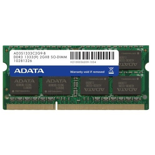 Adata Memorie Laptop Adata 2gb Ddr3 1333 Mhz Cl9