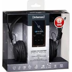 Intenso Intenso Mp4 Player 8gb Video Scooter Lcd 1 8 Black + Headphones