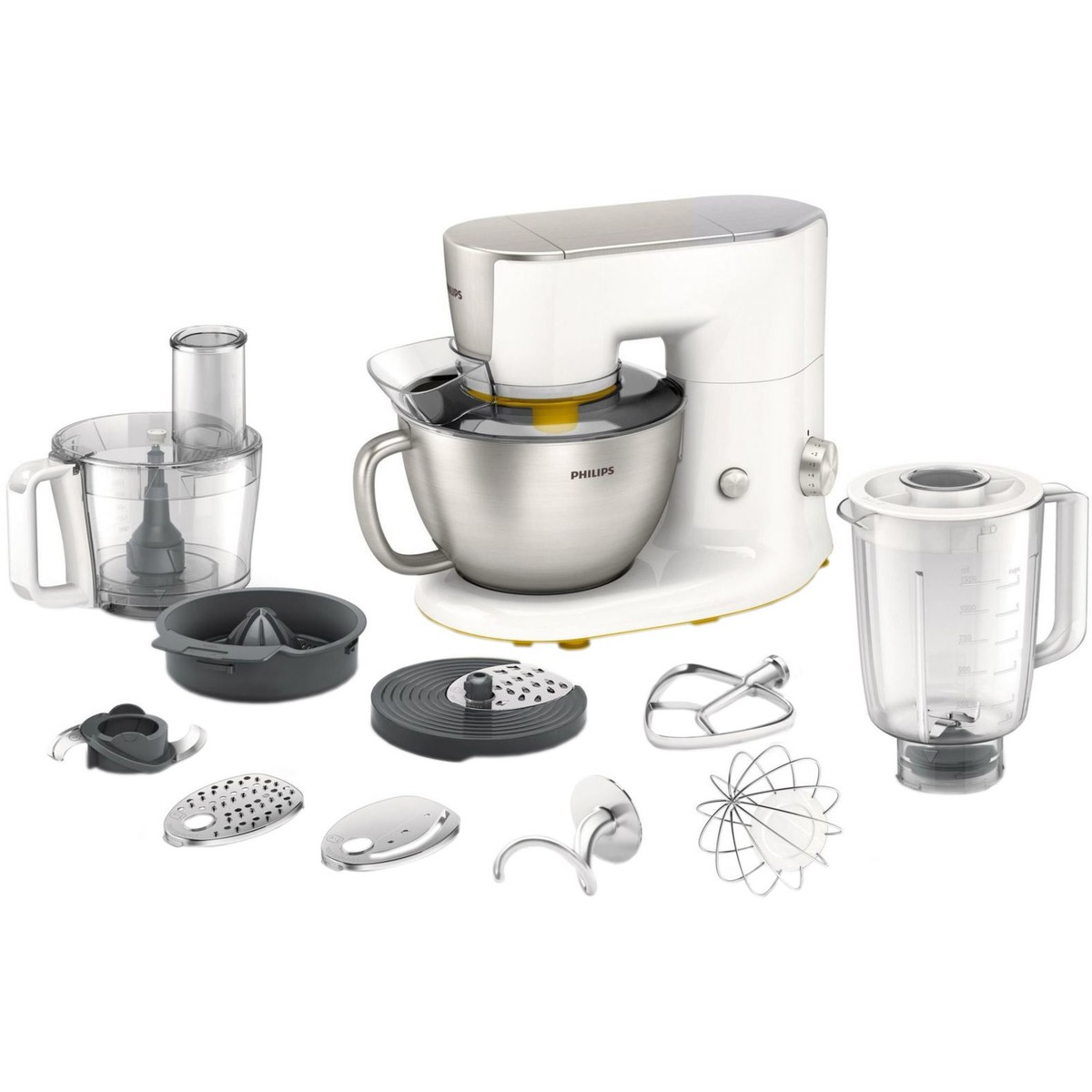 Philips Robot de bucatarie Philips Avance Collection HR7954/00, 900 W,bol 4 l, blender 1.2 l, tocator 1.5 l, 7 viteze + Pulse, Alb
