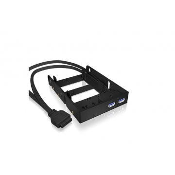 Raidsonic Icy Box Internal Front Panel And 2 5 Hdd/ssd Mounting Kit  2x Usb 3.0  Black