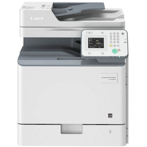 Canon Multifunctional laser color Canon IRC1225IF, dimensiune A4 (Printare, Copiere, Scanare, Fax), duplex, viteza max 25ppm alb-negru si color, rezolutie max 600x600dpi, memorie 1GB RAM, alimentare hartie: tava 550 coli + tava universala 100 coli, capac