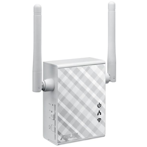 Asus Wireless Range Extender Asus  N300  2 Antene Externe  Wall Plug  Multi- Function  1 Port 10/100mbps  Access Point / Range Extender / Access Point/media Bridge Mode  Signal Indicator. One-touch Led Light.  3.5mm Audio Output (internet Radio Function)