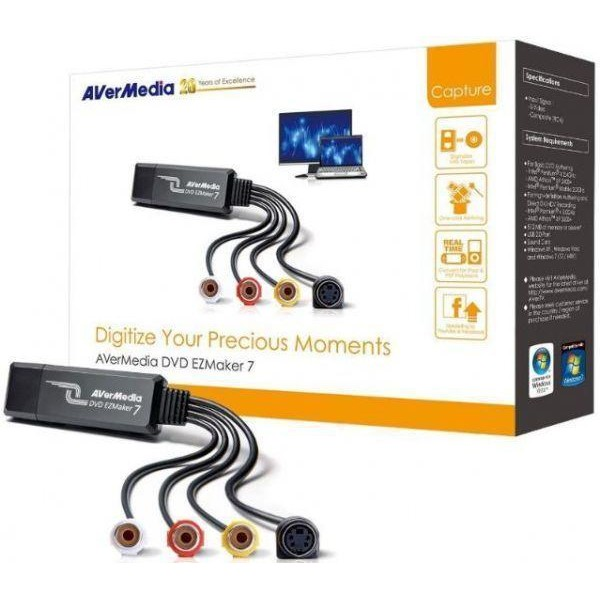 Avermedia Avermedia Video Grabber Dvd Ezmaker 7  Usb 2.0