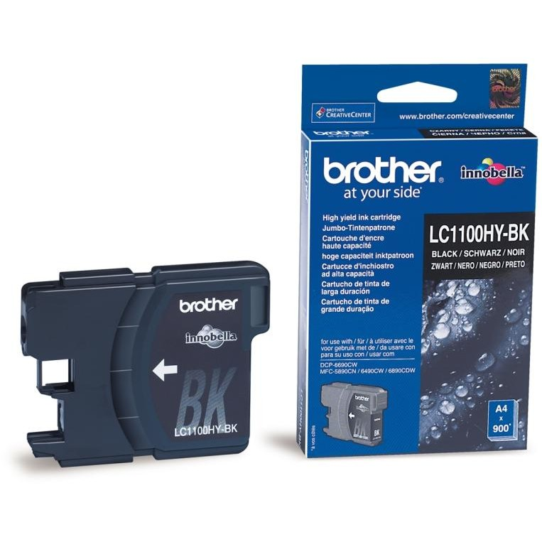 Brother Cerneala Brother Lc1100hybk Neagra 900pgs 