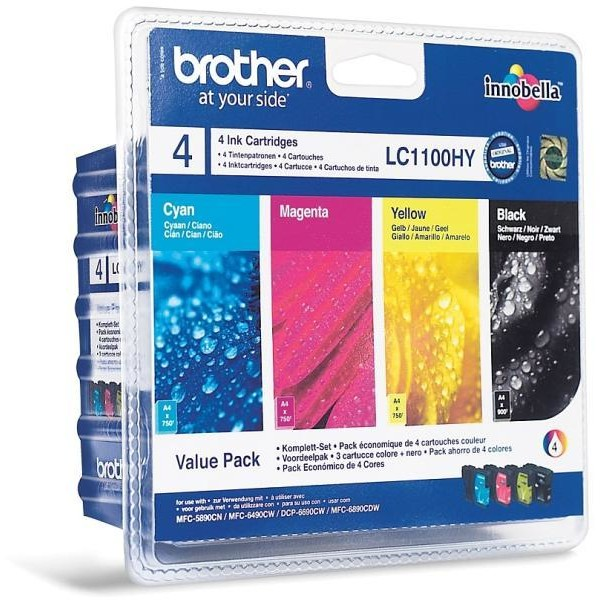 Brother Pachet Brother Lc1100hy Cmyk | Mfc6490cw/