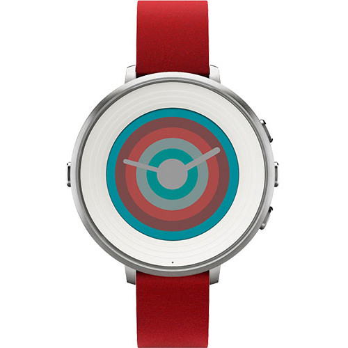 Pebble Smartwatch Time Round Rosu