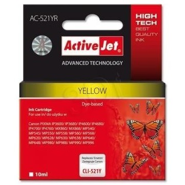 Action Ink Activejet Ac-521yr | Yellow | 10 Ml | C