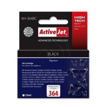 Action Ink Activejet Ah-364bc | Black | 10 Ml | Hp