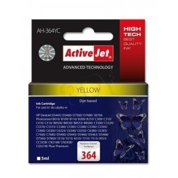 Action Ink Activejet Ah-364yc | Yellow | 5 Ml | Hp