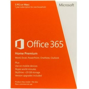 Microsoft Microsoft Office 365 Home P2 32-bit/x64 English Subscription 1 License Eurozone Medialess 1 Year