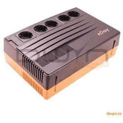 Njoy UPS Line Interactive  625VA, Brick Style, SHED 625, AVR, RJ11/RJ45 & Coaxial surge protection,