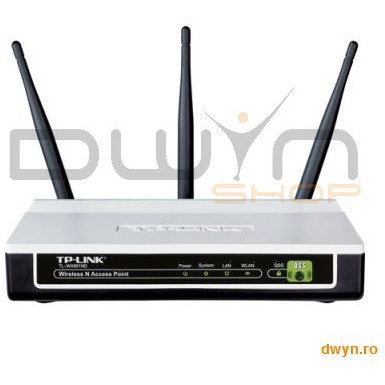 TP-LINK Acces Point Wireless 300Mbps Atheros, 3T3R, 2.4GHz, Passive PoE, QSS Push Button, 3 antene detasabil