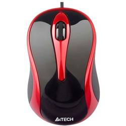 MOUSE A4TECH N-350-2 BLACK/RED USB