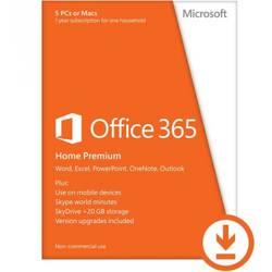 Microsoft Office 365 Home Premium 5PC 1 AN English Licenta Electronica