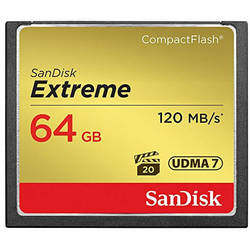 Card de memorie SanDisk Compact Flash Extreme, 64GB, 120MB/s
