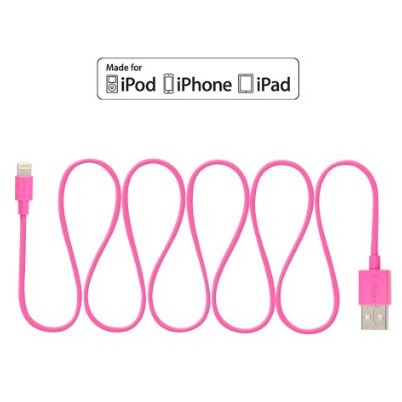adata ADATA Sync and Charge Lightning Cable, USB, MFi (iPhone, iPad, iPod), Pink