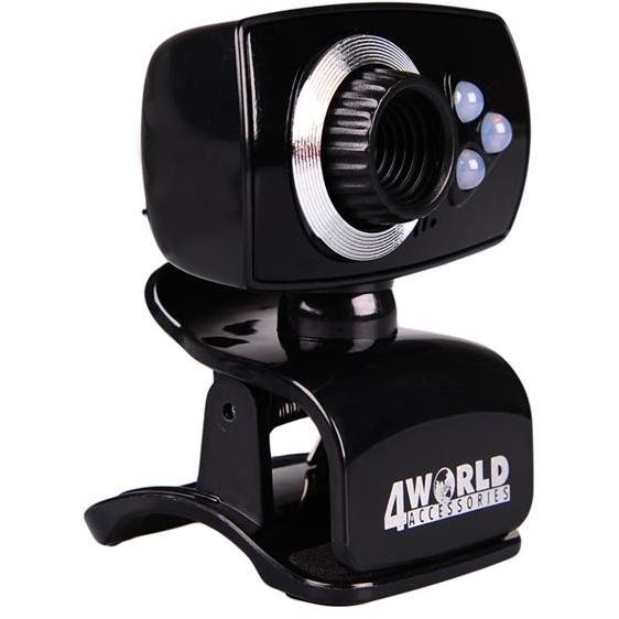 Camere Web 4WORLD Camera web 4World 2 Mpx USB 2.0 iluminata cu LED + microfon, universala