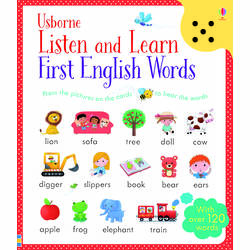 Listen and Learn English Words - Usborne book (2+)
