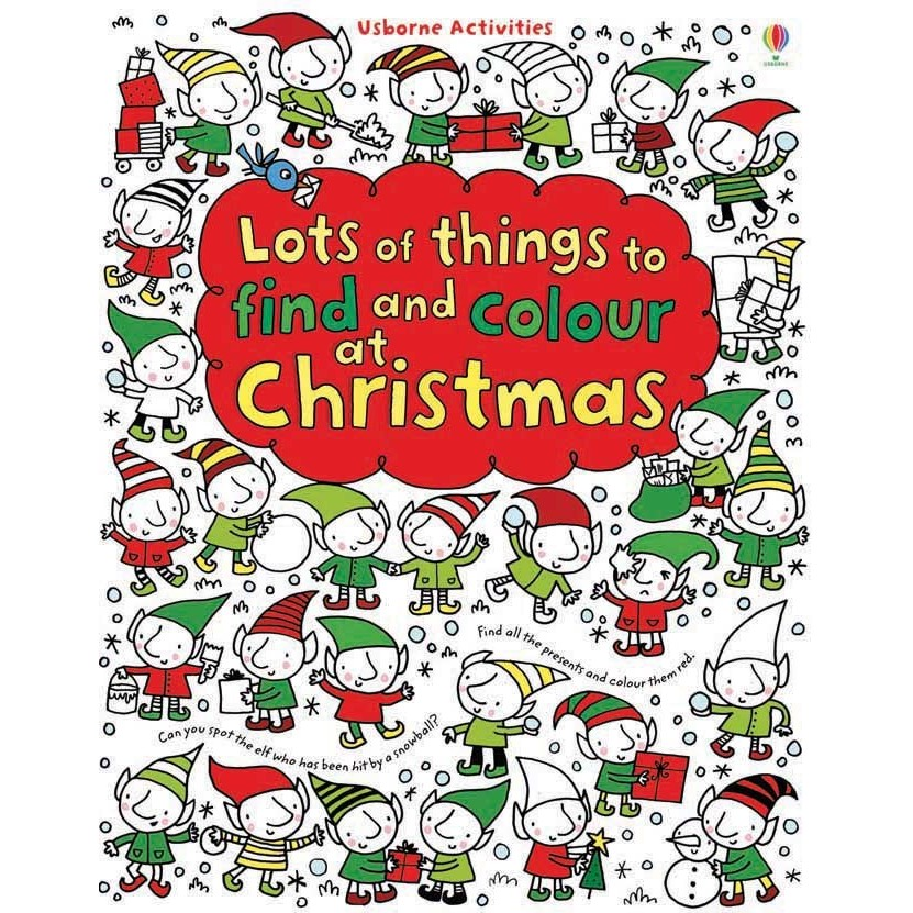 Usborne Lots of things to find and colour at Christmas - Carte Usborne (4+)