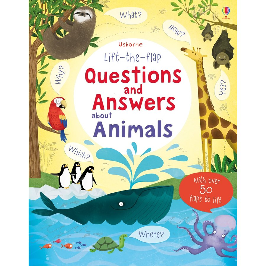 Usborne Lift-the-flap Questions and Answers about Animals - Carte Usborne (5+)