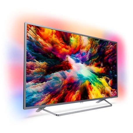 Philips Televizor LED Philips Smart TV 65PUS7303/12, Ambilight, Android, 164cm, 4K Ultra HD, Argintiu