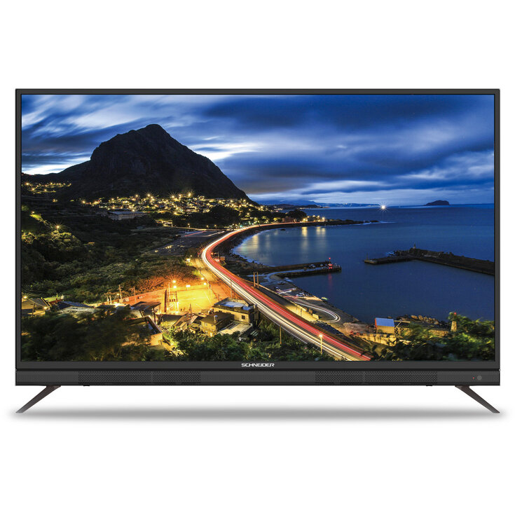 Schneider Televizor LED Schneider 138 cm, 55SU702K, Smart, Ultra HD 4K, Soundbar integrat, Negru