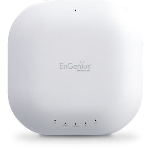 ENGENIUS AP Managed wireless Dual Band 11ac 300+867Mbps 2T2R GbE PoE.at 4*5dBi ia, EnGenius EWS350AP