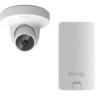 ENGENIUS AP Managed-CAM Indoor Dual Band 11ac 2T2R 300+867Mbps 2MP dome 4mm IR20m PoE.af #SDHC, Enge