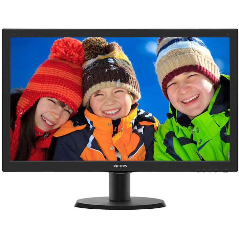 Philips MONITOR PHILIPS 23.6 LED, 1920x1080, 8ms, 250cd/mp, vga+dvi-d, 243V5QSBA/01 (include timbru
