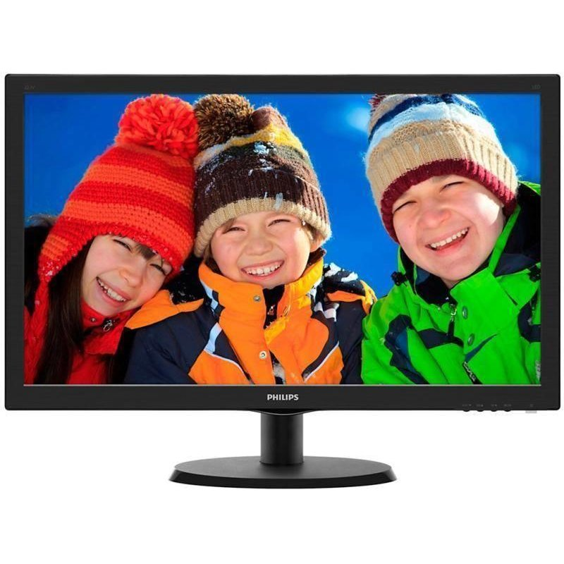Philips MONITOR PHILIPS 21.5 LED, 1920x1080, 5ms, 250cd/mp, vga+hdmi, 223V5LHSB/01 (include timbru verde 3 lei)