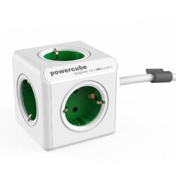 Prelungitor Allocacoc PowerCube Extended Kelly Green 5 prize tip Schuko - 1.5 m