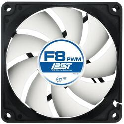 """FAN FOR CASE ARCTIC   """"F8 PWM PST"""" 80x80x25 mm, w/ PWM & cablu PST, low noise FD bearing """"AFACO-080P0-GBA01"""""""