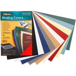 Binding cover (leather pattern) DELTA A4, bright blue - FSC, 100 pcs