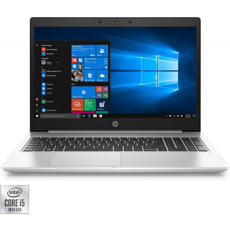 HP Laptop HP 15.6'' ProBook 450 G7, FHD, Procesor Intel® Core™ i5-10210U (6M Cache, up to 4.20 GHz), 16GB DDR4, 512GB SSD, GeForce MX130 2GB, Win 10 Pro, Silver