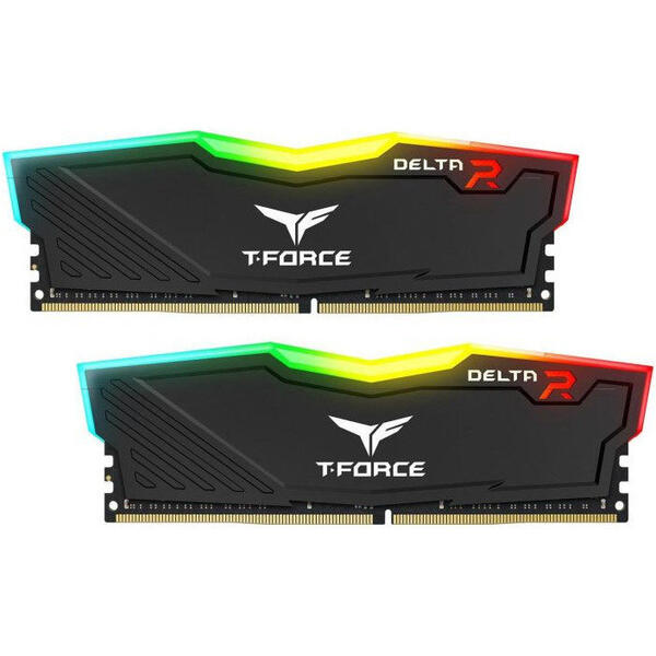Memorie TeamGroup T-Force Delta RGB 16GB DDR4 3000MHz CL16 Dual Channel Kit (2x8GB)
