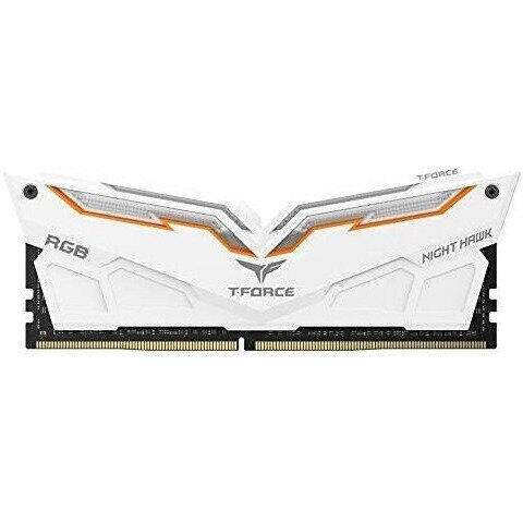 Memorie TeamGroup T-Force Night Hawk White RGB 16GB DDR4 3600MHz CL18 Dual Channel Kit (2x8GB)