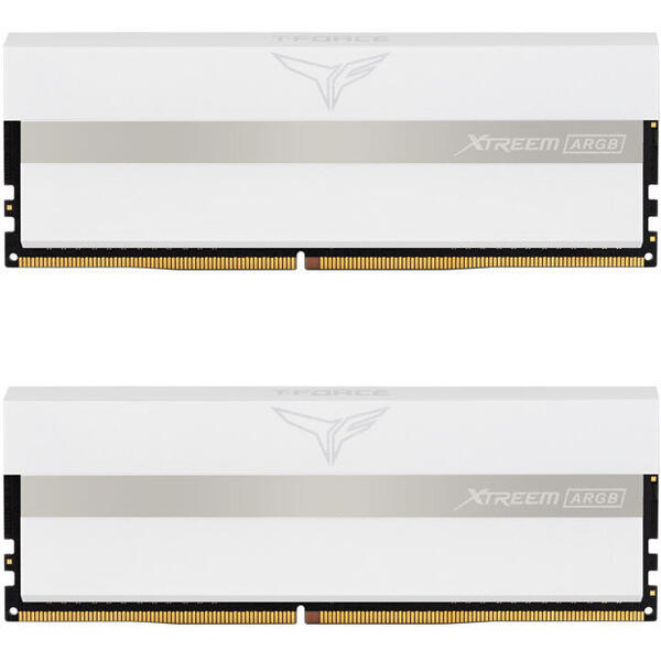 Memorie TeamGroup T-Force Xtreem ARGB White 16GB (2x8GB) DDR4 3600MHz CL18 1.35V Dual Channel Kit