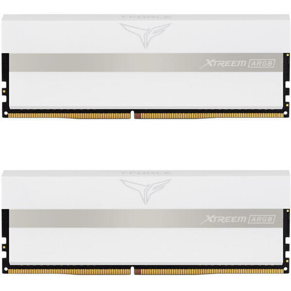 Teamgroup Memorie RAM Team Group T-Force Xtreem ARGB White 16GB (2x8GB) DDR4 3200MHz CL16 1.35V Dual Channel Kit