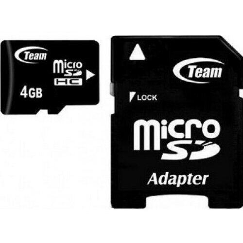 Teamgroup Card memorie Team Group Micro SDHC 4GB Class 10 +Adapter