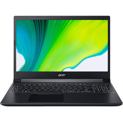 Laptop Acer Gaming 15.6'' Aspire 7 A715-41G, FHD IPS, Procesor AMD Ryzen™ 5 3550H (4M Cache, up to 3.7 GHz), 8GB DDR4, 256GB SSD, GeForce GTX 1650 4GB, No OS, Charcoal Black
