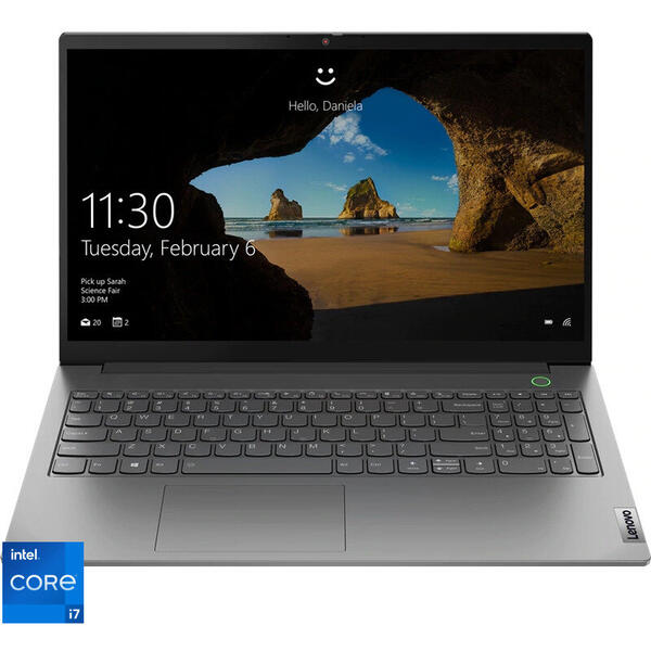 Laptop Lenovo 15.6'' ThinkBook 15 G2 ITL, FHD IPS, Procesor Intel® Core™ i7-1165G7 (12M Cache, up to 4.70 GHz, with IPU), 16GB DDR4, 512GB SSD, Intel Iris Xe, No OS, Mineral Gray