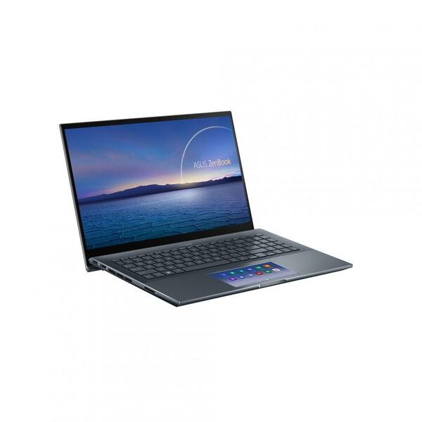 Ultrabook ASUS 15.6'' ZenBook Pro 15 UX535LH, FHD, Procesor Intel® Core™ i5-10300H (8M Cache, up to 4.50 GHz), 8GB DDR4, 1TB HDD + 512GB SSD, GeForce GTX 1650 4GB, Win 10 Home, Pine Grey