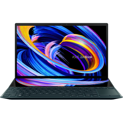 Ultrabook ASUS 14'' ZenBook Duo 14 UX482EG, FHD, Procesor Intel® Core™ i7-1165G7 (12M Cache, up to 4.70 GHz, with IPU), 16GB DDR4X, 1TB SSD, GeForce MX450 2GB, Win 10 Pro, Celestial Blue